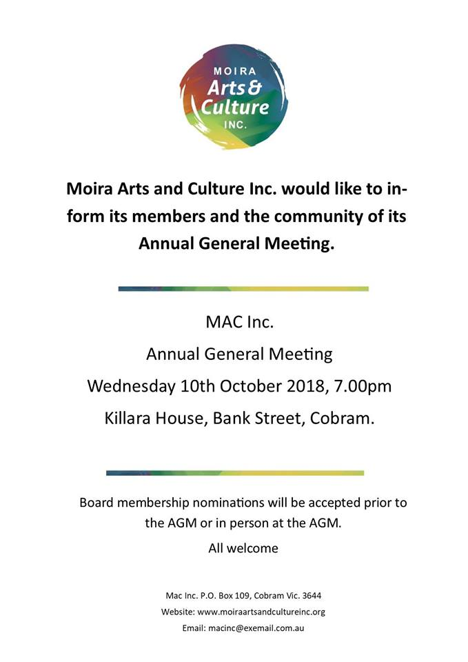 MAC Inc AGM 2018