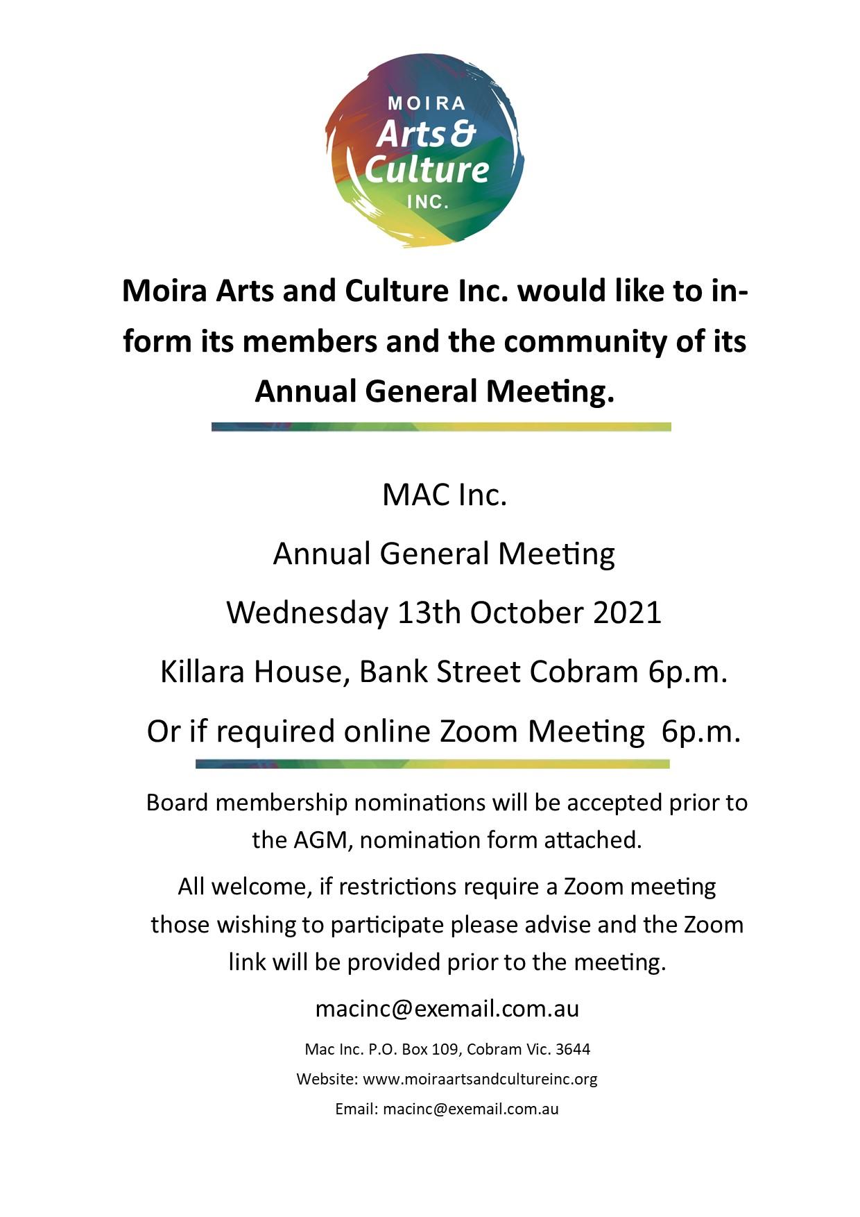 MAC Inc. AGM 2021