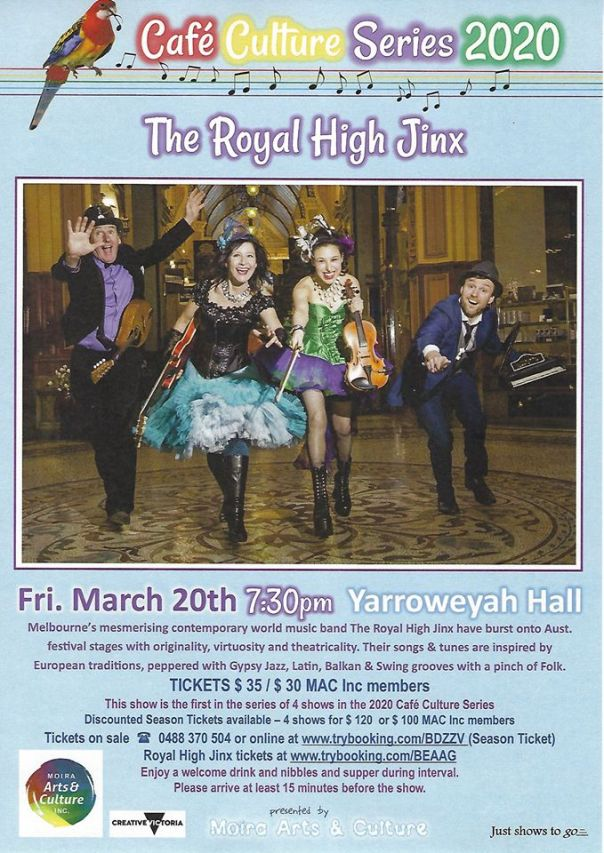 The Royal High Jinx flyer